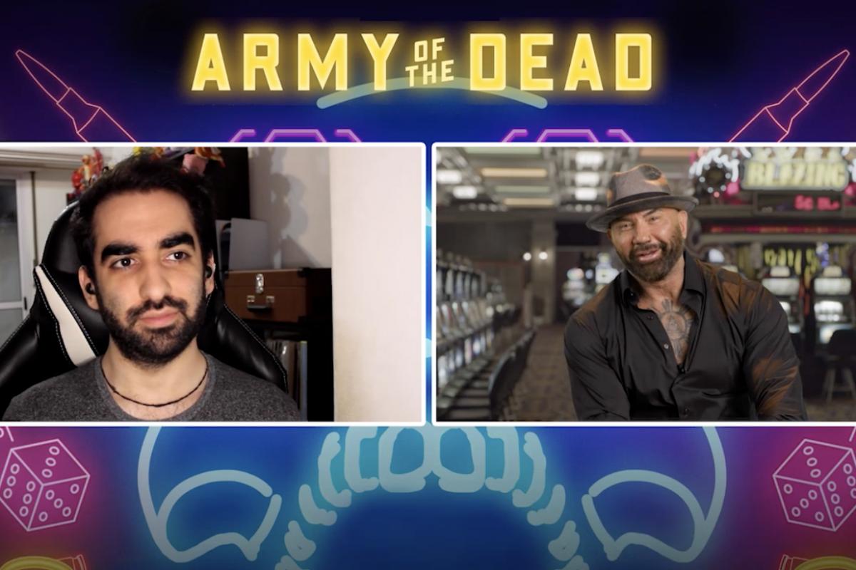 El Ejército De Los Muertos:  Dave Bautista y su conexión con Zack Snyder